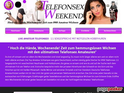 Details : Telefonsex Weekend